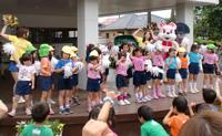 ブレッキー・ブレクシーの幼稚園・保育園訪問のようす