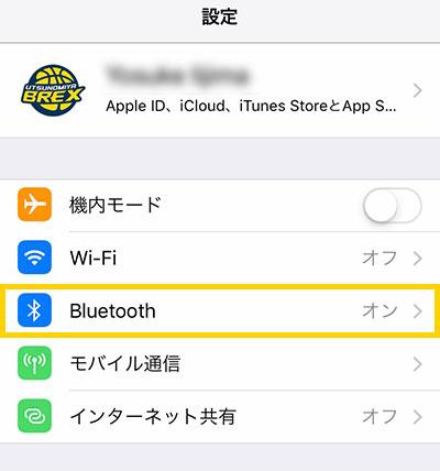 iOS 設定 Bluetooth確認