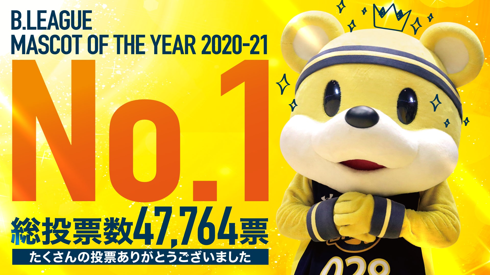 B.LEAGUE MASCOT OF THE YEAR 2020-21 ブレッキー No.1