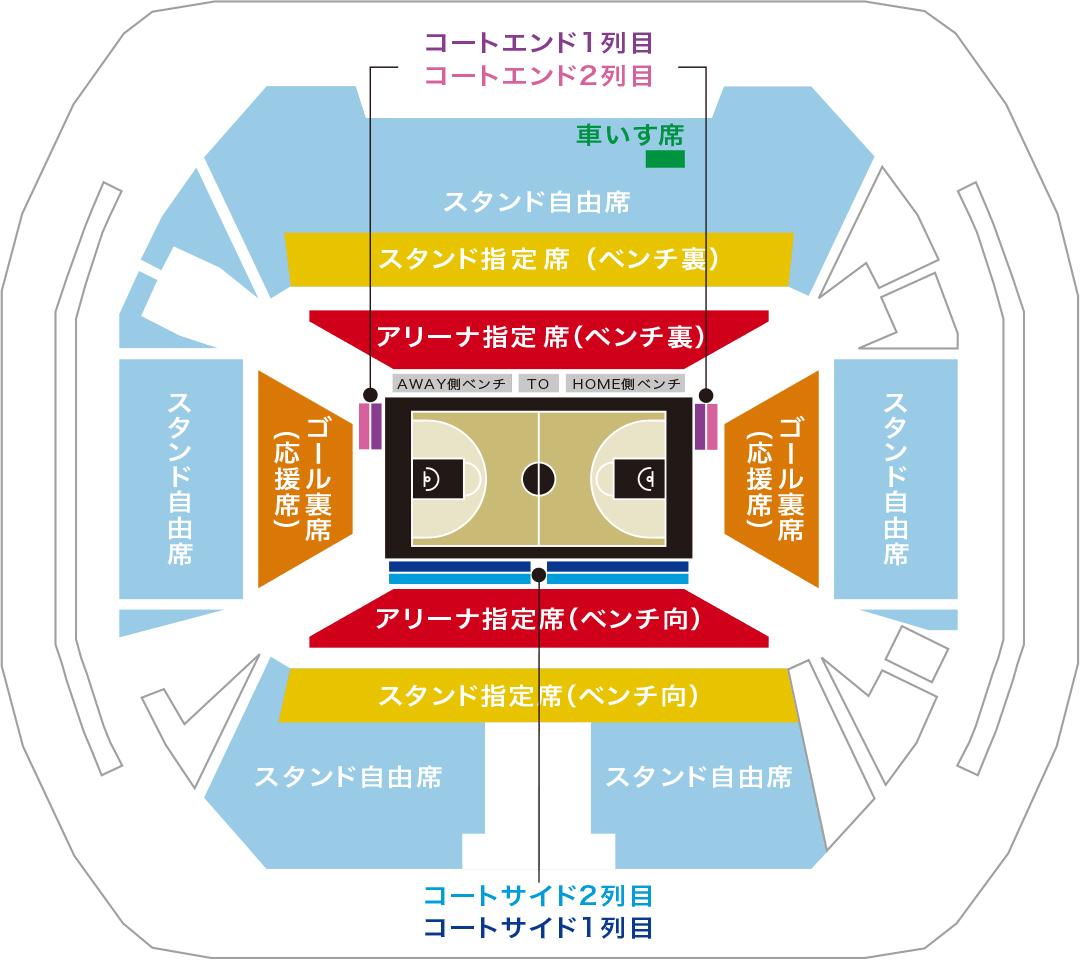 天皇杯2020 1月9日(木) 座席図