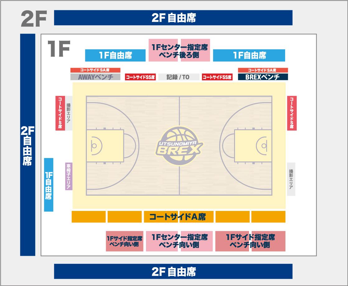 足利市民体育館席図